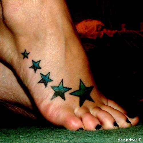 foot tattoos stars. Star Foot Tattoo Ideas
