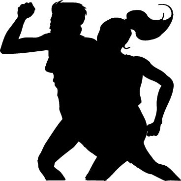 human silhouette clipart. human silhouettes vector