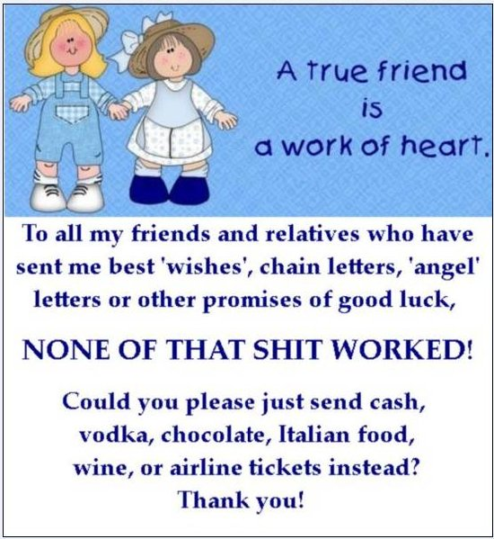 funny chain letters. Chain letters