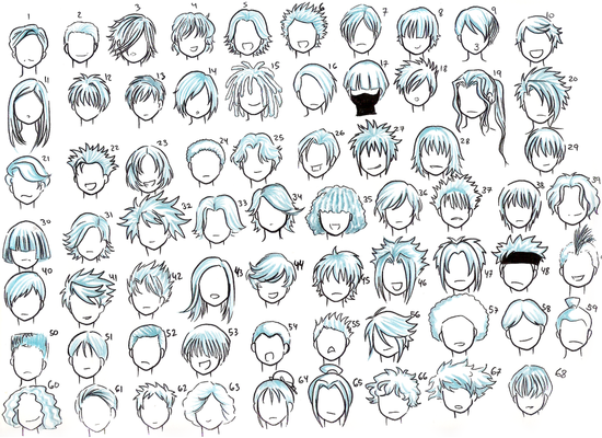 draw anime hairstyles. How To Draw Anime Hairstyles