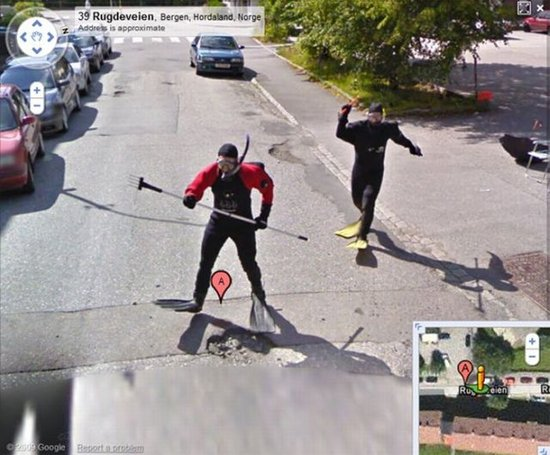 google street view funny. street view funny. Google