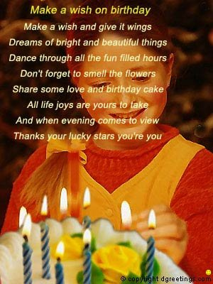 happy birthday wishes poems. happy birthday poems for a