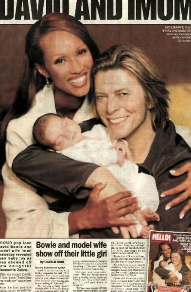 Pin David Bowie And Iman Daughter Alexandria on Pinterest