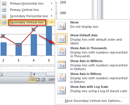 Add Or Remove A Secondary Axis In A Chart Excel Officecom
