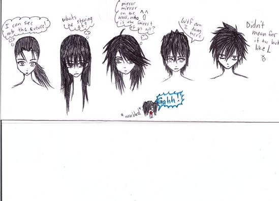 anime guy hairstyles . emo hair