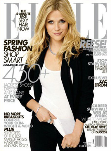 Reese Witherspoon On the Cover of Elle April 2009