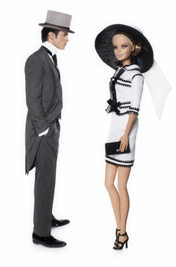 Barbie &amp; Ken Photographed by Karl Lagerfeld for Barbies 50th Birthday