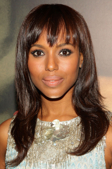 Kerry Washington Hairstyles and Makeup Looks