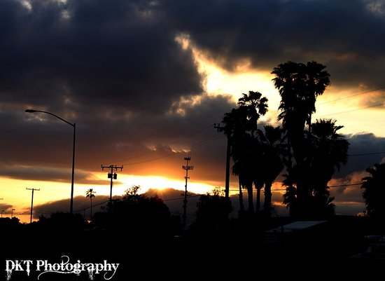 Sunset In CA, Taken with Canon rebel T1i.