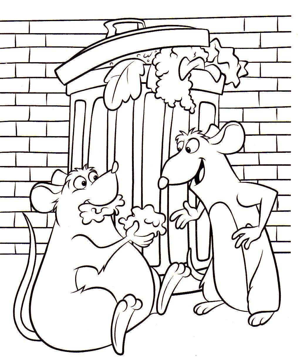 Disney ratatouille coloring pages -