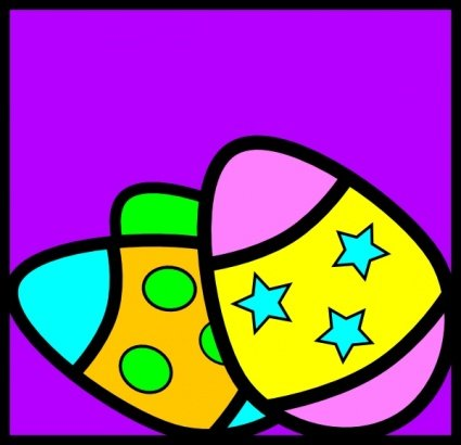little easter eggs clipart. easter eggs clipart black and