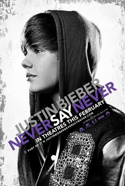 justin bieber never say never poster. tattoo justin bieber never say