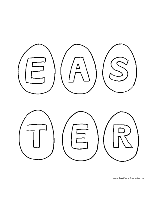 Small Easter Eggs Coloring