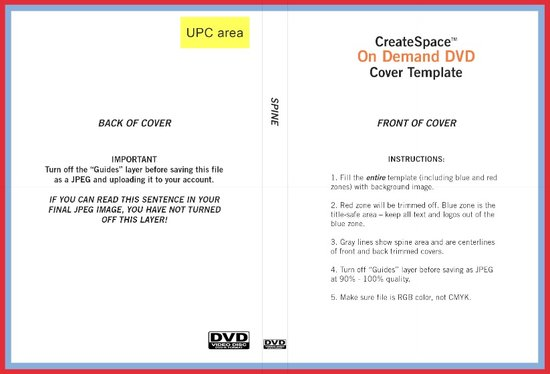 dvd cover template word