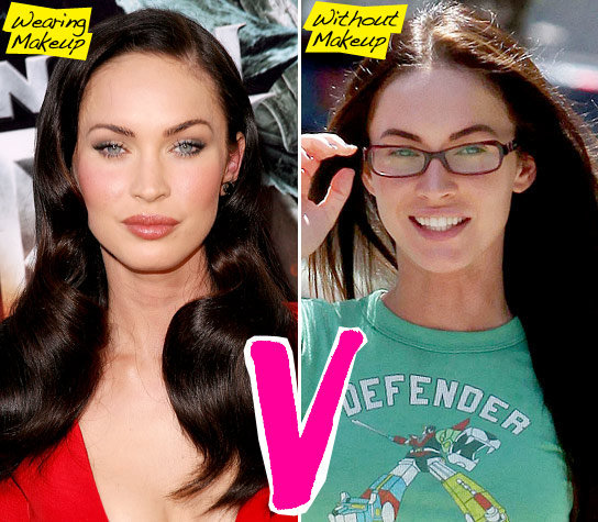 celebs without makeup megan fox. megan fox without makeup ugly.