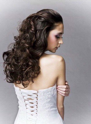 curly half up half down prom hairstyles. Curly Down Prom Hairstyles