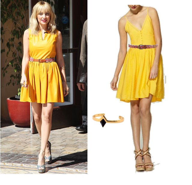 Golden girl: steal Nicole Richie's bright yellow dress