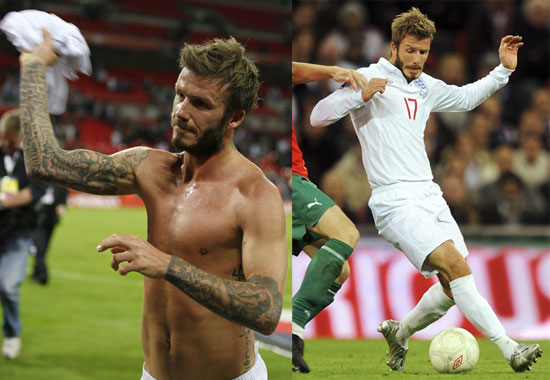 david beckham playing soccer shirtless. David Beckham Is Always