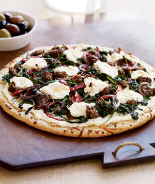 Easy Sausage-Ricotta-Arugula Pizza Recipe | POPSUGAR Food