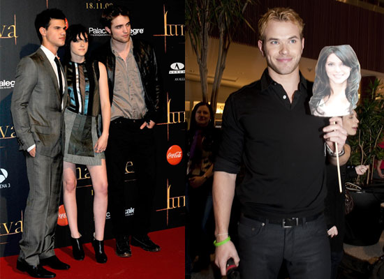 robert pattinson and kristen stewart and taylor lautner. When I met Kristen on
