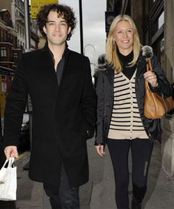 Denise Van Outen and Lee Mead were full of smiles as they left the ...