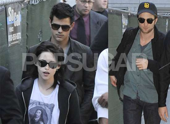 robert pattinson and kristen stewart and taylor lautner. Kristen wore yet another edgy