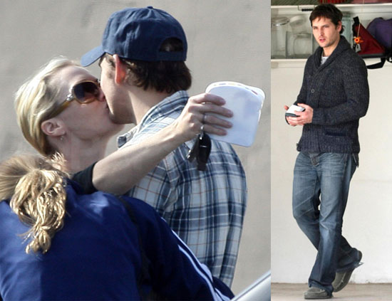 photos of peter facinelli kissing jennie garth after