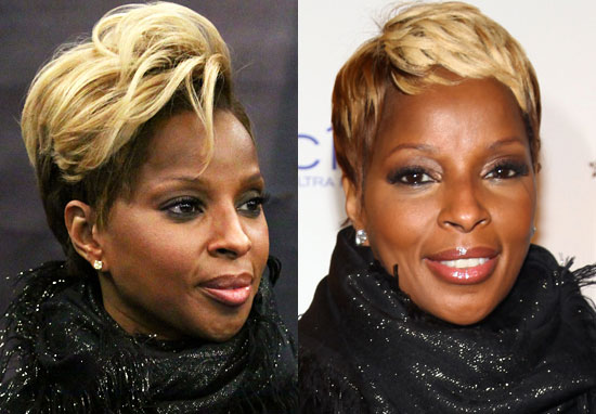 mary j blige hairstyles 2010. Below we see Mary with two
