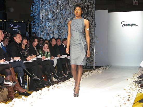 Supima Competition For Emerging Designers : Photo 11 of 22 | Coutorture :  knee length supima competition sleeveless cocktail