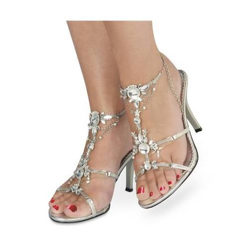 Excotic Wedding Shoes With Sexy Slingback