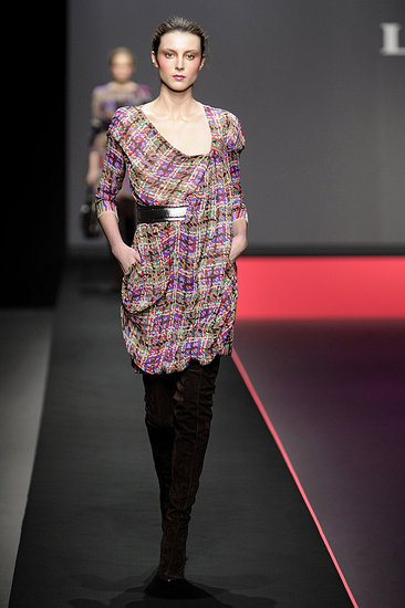 Paris Fashion Week: Leonard Fall 2009 | runway, leonard, Designer | Coutorture :  paris designer plaid dress