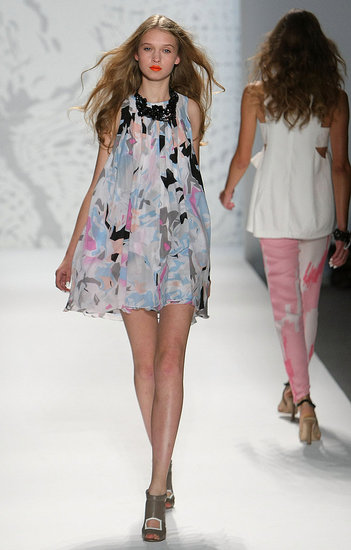 New York Fashion Week: Twinkle by Wenlan Spring 2010 | runway, Gallery, New York Fashion Week | Coutorture :  light blue geometric pattern crewneck womens
