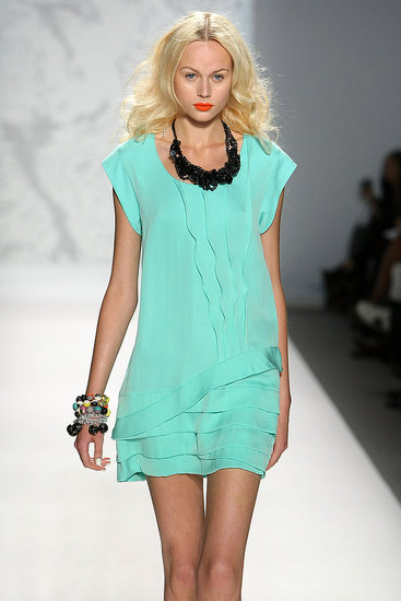 New York Fashion Week: Twinkle by Wenlan Spring 2010 | runway, Gallery, New York Fashion Week | Coutorture :  loose dress cool color asymmetrical