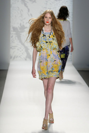 New York Fashion Week: Twinkle by Wenlan Spring 2010 | runway, Gallery, New York Fashion Week | Coutorture :  light blue yellow blouson dropped shoulder