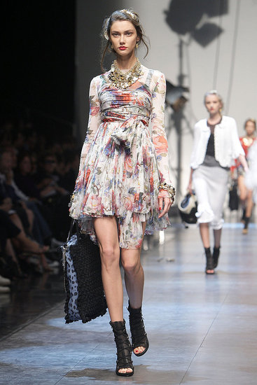Milan Fashion Week: Dolce & Gabbana Spring 2010 :  fashion dolce gabbana dress spring 2010
