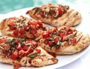 Fast and Easy Recipe For Grilled Bruschetta Chicken | POPSUGAR Food