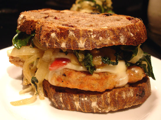Recipe For Chicken Sandwich With Roasted Peppers, Onions, and Southern ...