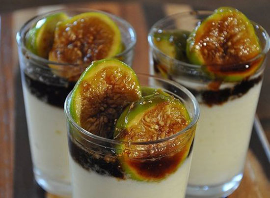 ... than savory. Something like caramelized figs with ricotta mousse
