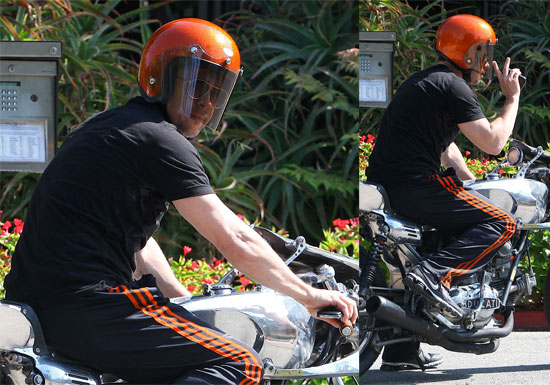 brad pitt benjamin button motorcycle. A good-sized blast had laid open the