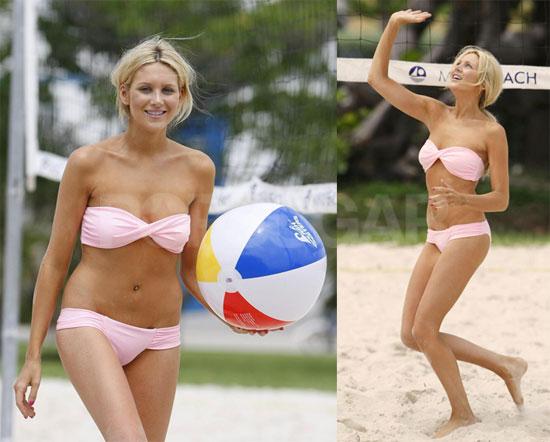 Bikini Photos Of Stephanie Pratt Playing Beach Volleyball