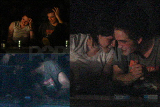 Kristen Stewart And Robert Pattinson Kissing In Public. Rob and Kristen leaving.