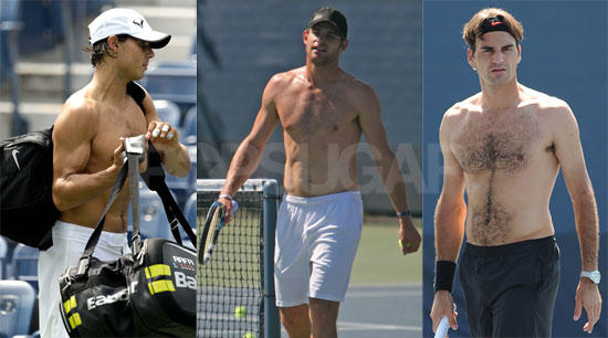 andy roddick shirtless. and Andy Roddick to Rafael