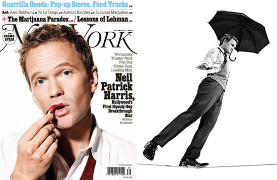 NPH putting on lipstick