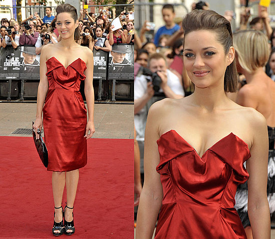 Marion Cotillard Wears Red Vivienne Westwood Dress at Public Enemies ...