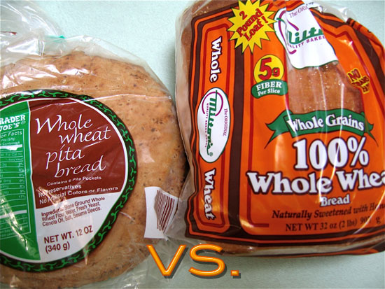 Which Bread Is Healthier: Whole Wheat Pita or Whole Wheat Bread ...