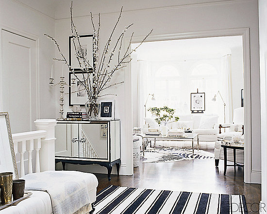 Ask Casa Elle Decor Black and White Striped Rug