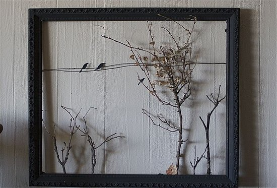 Fall style crafting a fall landscape with an old frame - Picture frame without glass ...