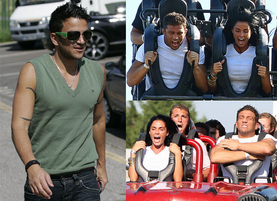 Photos of Jordan aka Katie Price and Alex Reid on Rides at Thorpe Park and