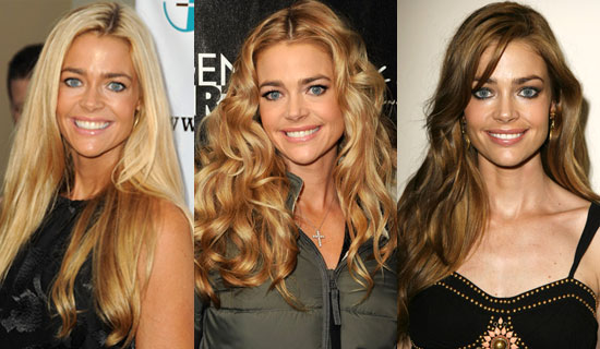 Below we also see her pictured with highlights, lowlights and with her hair