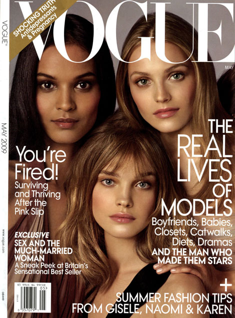 Filed in: Faces Of The Moment Vogue Cover May 2009 | Tagged with: Faces Of
